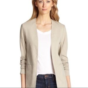 Theory Isita Linen Blazer in Dark Oat